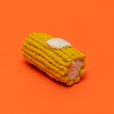 Fair-Trade Boiled Wool Toys- Corn