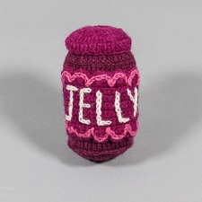 Fair-Trade Handknit Dog Toy- Jelly