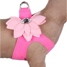 Water Lily Crystal Two-Tone Step-In Harness- Perfect Pink and Puppy Pink
