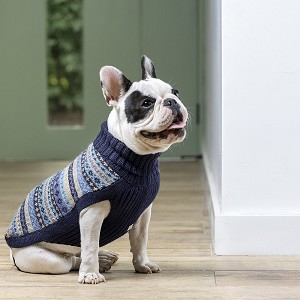 Apres Ski Blue Alpaca Dog Sweater