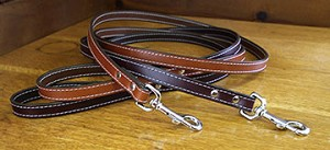 Dover Court Leather Dog Leash - Six Colors