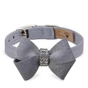Platinum Glitzerati Nouveau Bow Collar