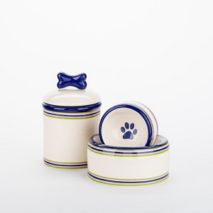 Preppy Stripe Collection Bowls & Treat Jars
