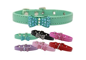 Rhinestone Bow Tie Collars- 6 Colors