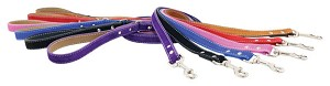 Saratoga Suede Nubuck Leather Leashes - Six Colors