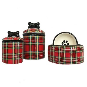 Stewart Plaid Collection Bowls & Treat Jars