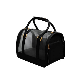 Vanderpump Mesh Pet Carrier- Black
