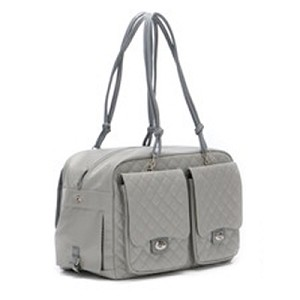 Alex Quilted Cambon Dog Carrier by Kwigy Bo - Grey