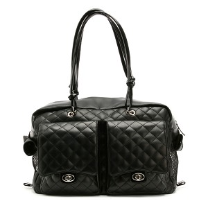 Alex Cambon Quilted Dog Carrier by Kwigy Bo - Black