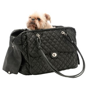 Alexa Cambon Quilted Dog Carrier by Kwigy Bo - Black