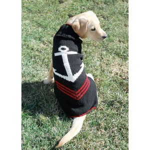 Anchors Away Wool Dog Sweater