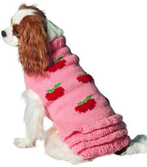 Apple Skirted Wool Dog Sweater