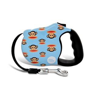 Blue Signature Retractable Dog Leash by Paul Frank