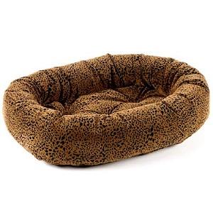 Microvelvet Donut Dog Bed Urban Animal Leopard Print