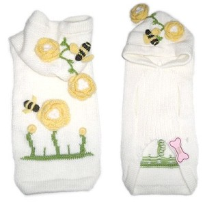 Bumble Bee Knit Dog Hoodie