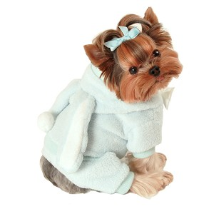 Plush Bunny Dog Jumper - Blue
