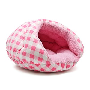 Burger Bed- Pink Checkers