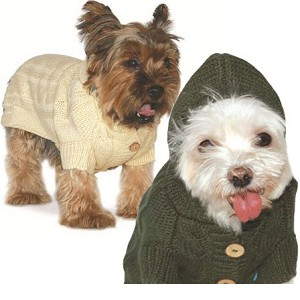 Cable Coat Cashmere Dog Hoodie- Two Colors