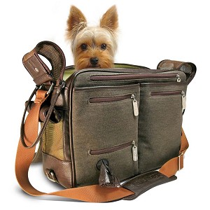 Cambridge Incognito TakeMeAlong Dog Carrier - Brown Canvas