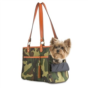 Camouflage Tote with Orange Trim
