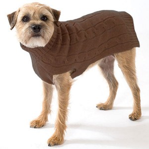 Cashmere Dog Sweater- Brown