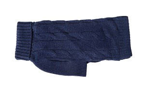 Cashmere Dog Sweater- Navy