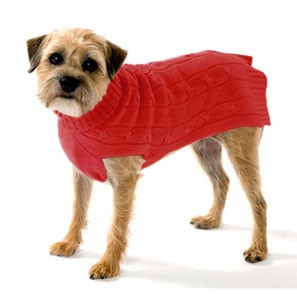 Cashmere Dog Sweater- Red