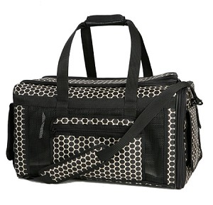 Carle Dog Carrier by PETote - Reverse Noir Dots