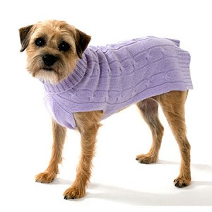 Cashmere Dog Sweater- Lavender