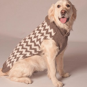 Grey Chevron Shawl Dog Sweater
