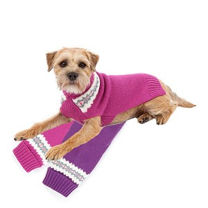 Christina Wool Dog Sweater - Pink, Grape