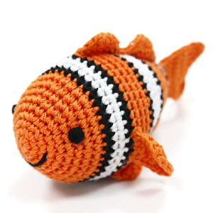 Clown Fish Cotton Knit Dog Toy