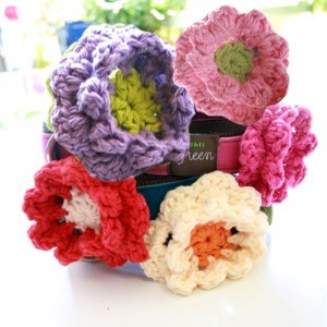 Dog Collar Flowers by Mimi Green - 5 Colors