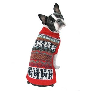 Crazy Llama Handknit Alpaca Dog Sweater
