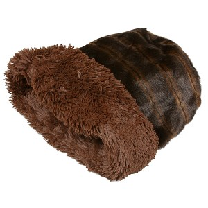 Cuddle Cup Dog Bed - Chocolate Shag