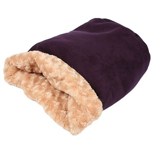 Cuddle Cup Dog Bed - Plum Luxe Suede