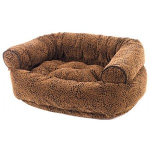 Microvelvet Double Donut Dog Bed Sofa - Urban Cheetah
