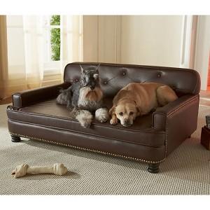 Encantado Espresso Dog Sofa Bed Luxury Dog Beds At