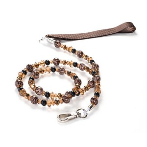 Coffee Leopard Beaded Dog Leash