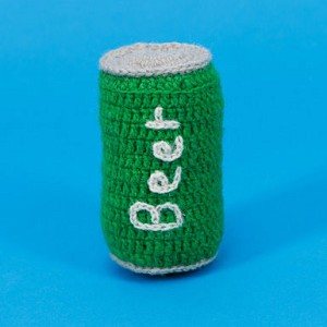 Fair-Trade Handknit Dog Toy- Beer