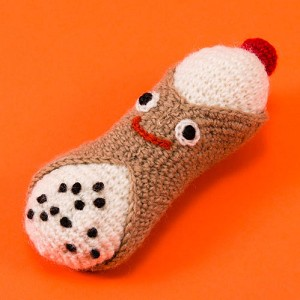 Fair-Trade Handknit Dog Toy- Cannoli