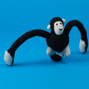 Fair-Trade Handknit Dog Toy- Monkey
