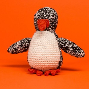 Fair-Trade Handknit Dog Toy- Penguin