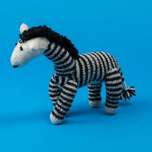 Fair-Trade Handknit Dog Toy- Zebra