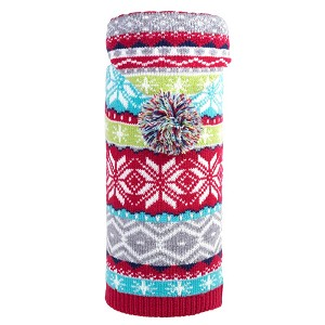 Fairisle Hoodie Dog Sweater