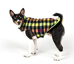 Fargo Fleece Dog Jacket- Multi Check