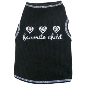 Favorite Child Dog Shirt with Swarovski Crystals