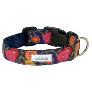 Floribunda Grosgrain Designer Dog Collar- Primary