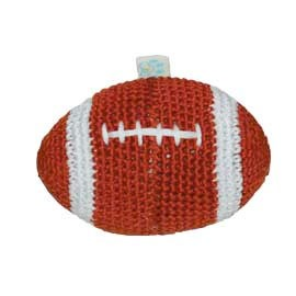 Football Cotton Knit Dental Dog Toy