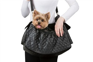 Gigi Sling Bag- Black Quilted Pleather